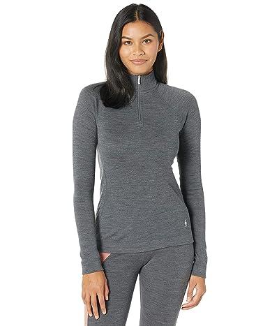 Smartwool Merino 250 Base Layer 1/4 Zip (Medium Gray Heather) Women