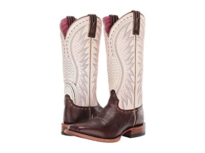Ariat Vaquera (Mustang Brown/Crackled White) Cowboy Boots
