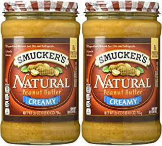 Smucker's Creamy Natural Peanut Butter - 26 oz - 2 Pack