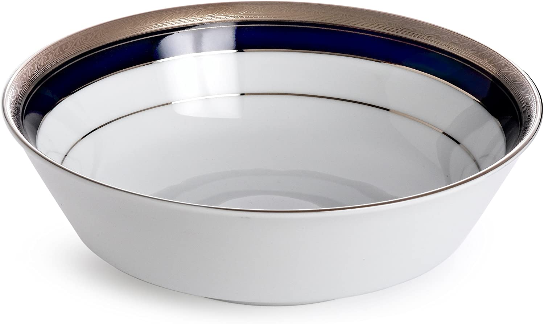 Noritake Crestwood Cobalt Platinum Round Vegetable Bowl