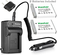 Kastar NB-6L Battery (2-Pack) + Charger for Canon PowerShot D10, D20, S90, S95, S120, SD770, SD980, SD1200, SD1300, SD3500, SD4000, SX170, SX240, SX260, SX270, SX280, SX500, SX510, SX600, SX704