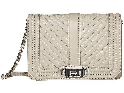 Rebecca Minkoff Chevron Quilted Small Love Crossbody (Perla) Cross Body Handbags