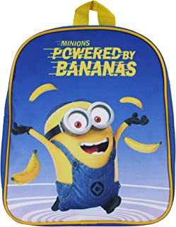 Minions Powered by Bananas Mochila Infantil 31 Centimeters 7 Azul (Blue)