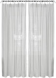Elrene Home Fashions 26865638820 Juvenile Tween Tab Top Sheer Single Panel Window Curtain Drape, 52