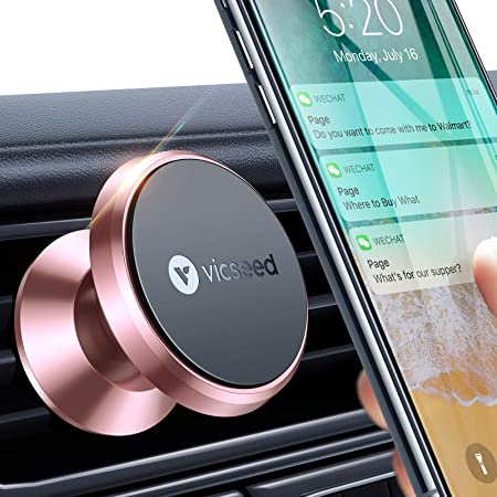 Universal Air Vent Magnetic Phone Car Mount Rose Gold