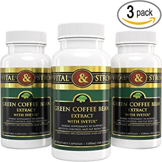 Vital & Strong Green Coffee Bean Extract with Svetol 180 Count