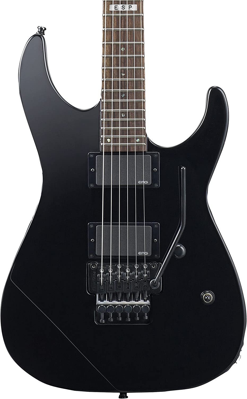 ESP E-II free shipping M-II Neck Thru Case Denver Mall with Black Electric Guitar