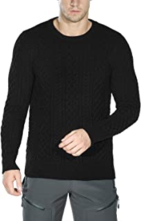 Rocorose Men's Knit Pullover Sweater Winter Ribbed Long Sleeves Crew Neck