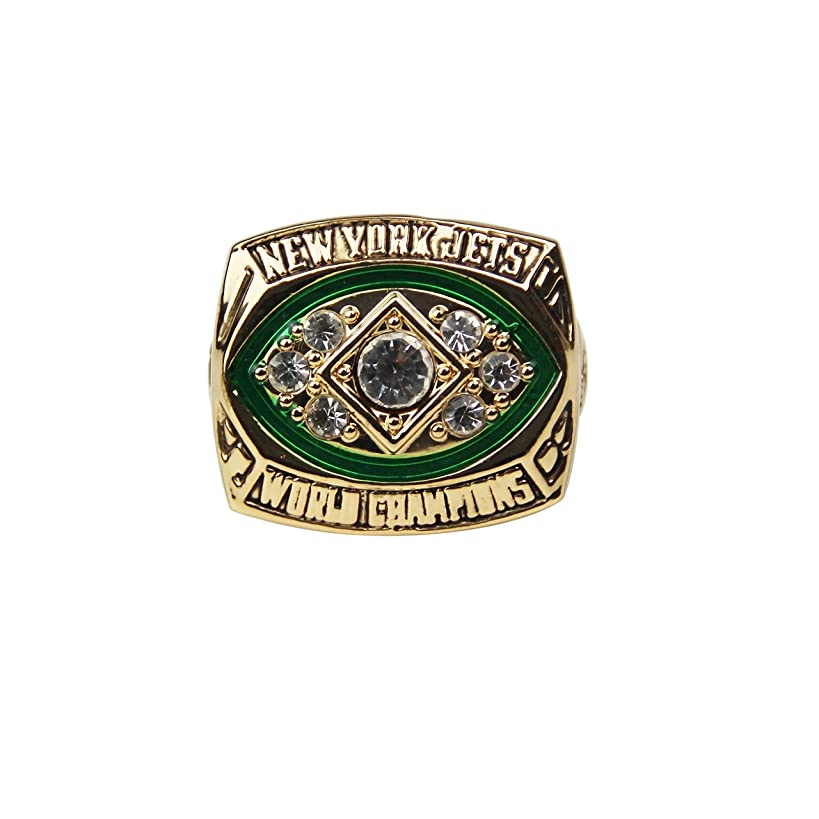 GF-sports store Replica Championship Ring 1968 York Jets Gift Fashion Gorgeous Collectible Ring
