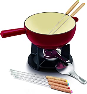 Beka Belledone Cast Iron Cheese Fondue Set, Red