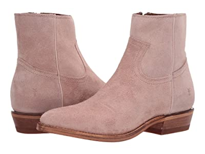 Frye Billy Inside Zip Bootie (Pale Blush Hairy Suede) Women