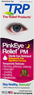 TRP Company, Pink Eye Relief PM Preservative Free Eye Ointment for Temporary Relief of Over Night crusting, red Eyes, Burning, Watering,