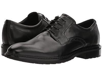 ECCO Vitrus I Plain Toe Tie (Black) Men