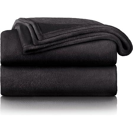 Blumtal - Couverture Polaire 150 x 200 - Plaid Anthracite - Plaid pour Canapé - Plaid Cocooning - Couverture Polaire Epaisse, Moelleuse, Douce Et Chaude - Haute Qualité