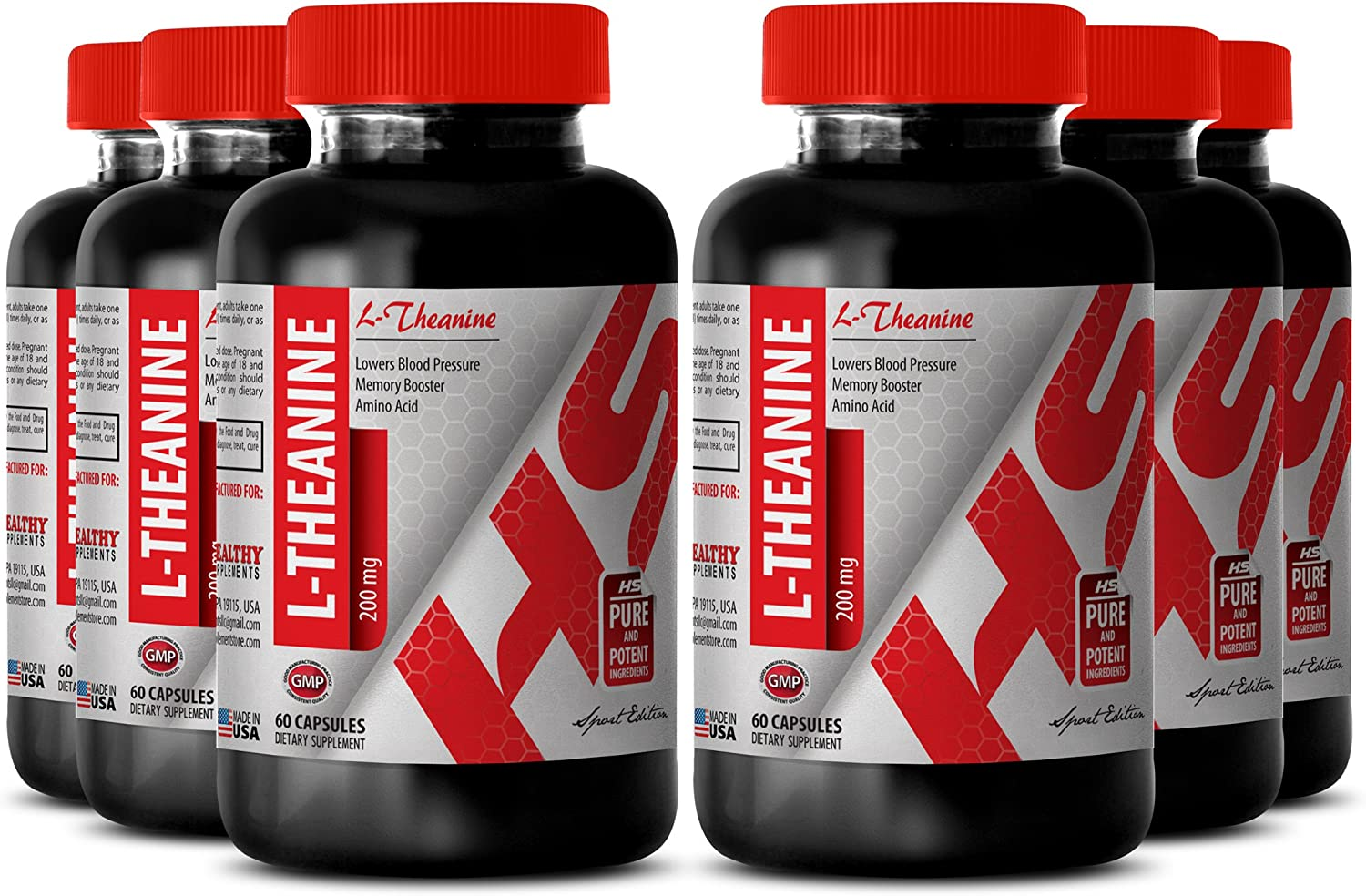 Ranking TOP7 L-theanine Sales for sale Pure - Natural L-THEANINE Cognitive F 200MG Improve