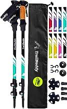 TrailBuddy Trekking Poles - 2-pc Pack Adjustable Hiking or Walking Sticks - Strong, Lightweight Aluminum 7075 - Quick Adju...