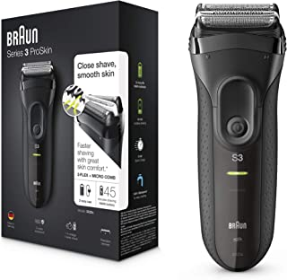 Braun Series 3 ProSkin 3020s Electric Shaver, Black - Rechargeable and Cordless Electric Razor for Men