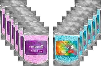 Komega6 lavande et faisceau sel de bain de menthe poivrée sacs de 4 oz bleu violet