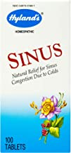 Sinus Relief by Hyland's, Decongestant, Headache and Sinus Relief, Natural Sinus and Cold Medicine for Adults, 100 Count
