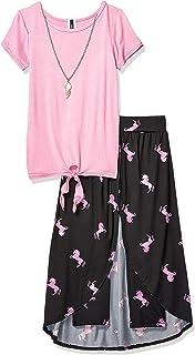 Instagirl Girls' Knit Top and Romper Skirt Set