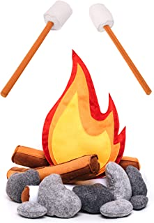 Safe Zone Playpen Pretend Play Felt Campfire Plush Toy for Kids Multicolor Photo Prop