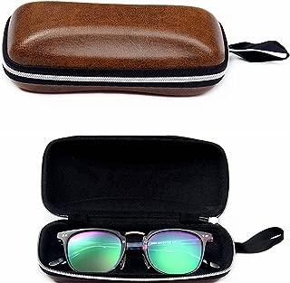 Eilin Portable PU Leather Sunglasses Pouch Soft Eye Glasses Carry Case for Women Men Horizontal Sunglass Box Case