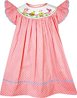 Baby Toddler Little Girls Spring Easter Bunny Parade Classic Bishop Dress