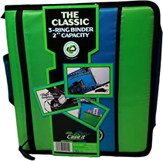 Case it The Classic 3-Ring 2 inch Capacity Binder, Color: Light Green/Light Blue (D252-NEO)