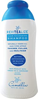 ReviTeaLize Green Tea Hair Thickening Shampoo, with Beneficial Botanical Extracts. FREE of Paraben-Sulfate-Drying Salt, Al...