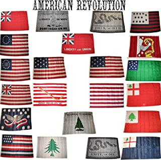 US Energy Products 3x5 3'x5' Wholesale Lot Set Historical American Revolution 22 Flags Flag
