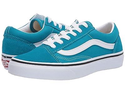 Vans Kids Old Skool (Big Kid) (Caribbean Sea/True White) Kids Shoes