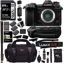 Sponsored Ad - Panasonic Lumix G9 Mirrorless Camera Body 20.3 MP G9KBODY, Panasonic G9 Vertical Battery Grip, Polaroid 64G...