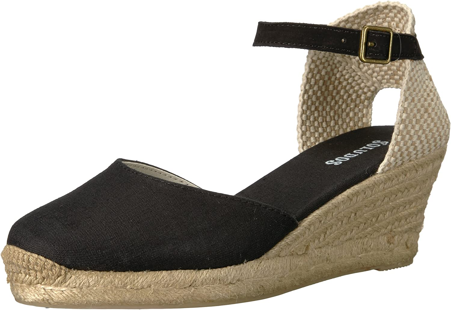 Soludos Womens Closed-Toe Midwedge (70mm) Espadrille Wedge Sandal