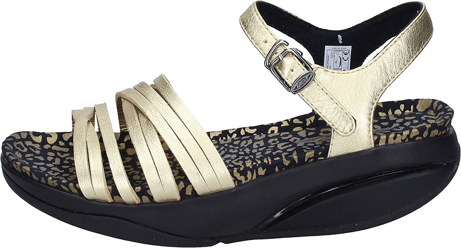 MBT Sandals Womens Leather gold
