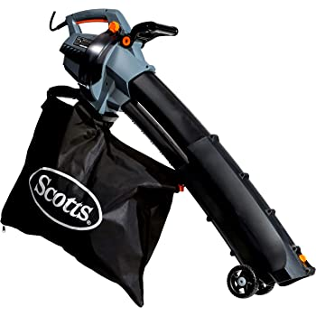 Scotts Outdoor Power Tools BVM23014S 14-Amp 3-in-1 Corded Electric Blower/Vac/Mulcher, Pack of 1, Black/Grey