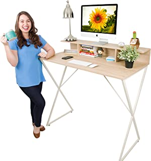 Joy Desk by Stand Steady - Modern Home Office Standing Desk Workstation with Storage Cubbies! - 47.5