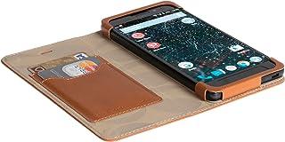 Official Krusell Kiruna Leather Flip Case for Silent Circle Blackphone 2 (Camel)