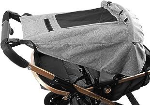 Mture Kinderwagen Sonnensegel, Universal Kinderwagen Sonnensegel mit Sichtfenster und Seitenflügel mit UV Schutz 50 und Wasserdicht, Verstellbar Sonnenschutz für Kinderwagen Buggy