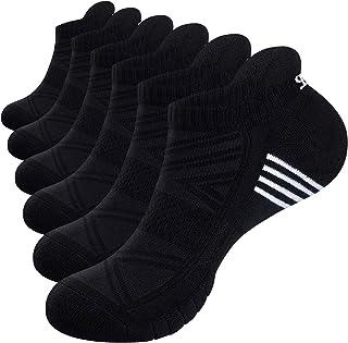 TANSTC Mens Running Socks 3/6 Pairs Anti-Blister Cushioned Cotton Trainer Socks for Men Women Ladies Sports Low Cut Breath...