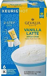 Gevalia Vanilla Latte Espresso Keurig K Cup Coffee Pods & Froth Packets (6 Count)