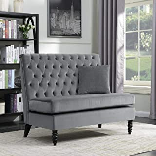 Living Room Design Ideas Accessories Décor Furniture Set Decorations Reading Essentials Home Decor Upholstered Bench Sofa Settee Tufted Lounge Chaise Couch Furniture Loveseat Gray