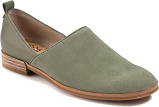 Lucca Lane Womens Tabby Leather Closed Toe Loafers, Military Olive, Size 7.5
