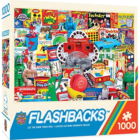 """MasterPieces Flashbacks Jigsaw Puzzle, Let the Good Times Roll, 1000 Pieces Multicolored, 19.25""""X26.75"""""""