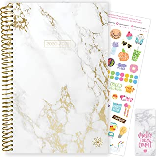 "bloom daily planners 2020-2021 Academic Year Day Planner Calendar (July 2020 - July 2021) - 6"" x 8.25"" - Weekly/Monthly Agenda Organizer Book with Stickers & Bookmark - Marble"