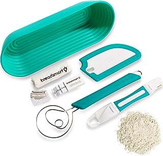 Breadsmart Kit para la elaboración de pan artesanal – Set de 5 Artículos para Repostería – Cuchilla para Greñar, Paleta, B...