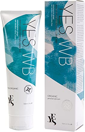 YES WB organic water based natural personal lubricant, 150ml