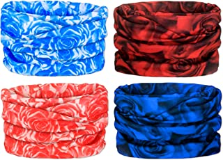 Gorecio 4,6,9 PCS Face Scarf Headband Bandana Mask - 16 in 1 Headwear Multiuse Neck Gaiter Headwrap Balaclava Helmet Liner Dust Head Sport Sweatband for Face Shield Ski Men Cold Snowboard