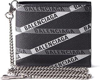 [BALENCIAGA(バレンシアガ)] 二つ折り財布 チェーン付き 財布 ブラック ロゴ 504933 GY93R 1080 [並行輸入品]