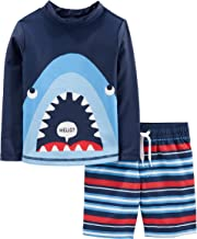 Simple Joys by Carter's Baby and Toddler Boys' 2-Piece Swimsuit Trunk and Rashguard