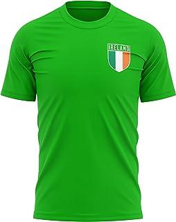 Ireland Football Shirt - Mens Ireland Retro Flag Badge T Shirt - Football European Country 2021 2020 Supporters Green Tee ...